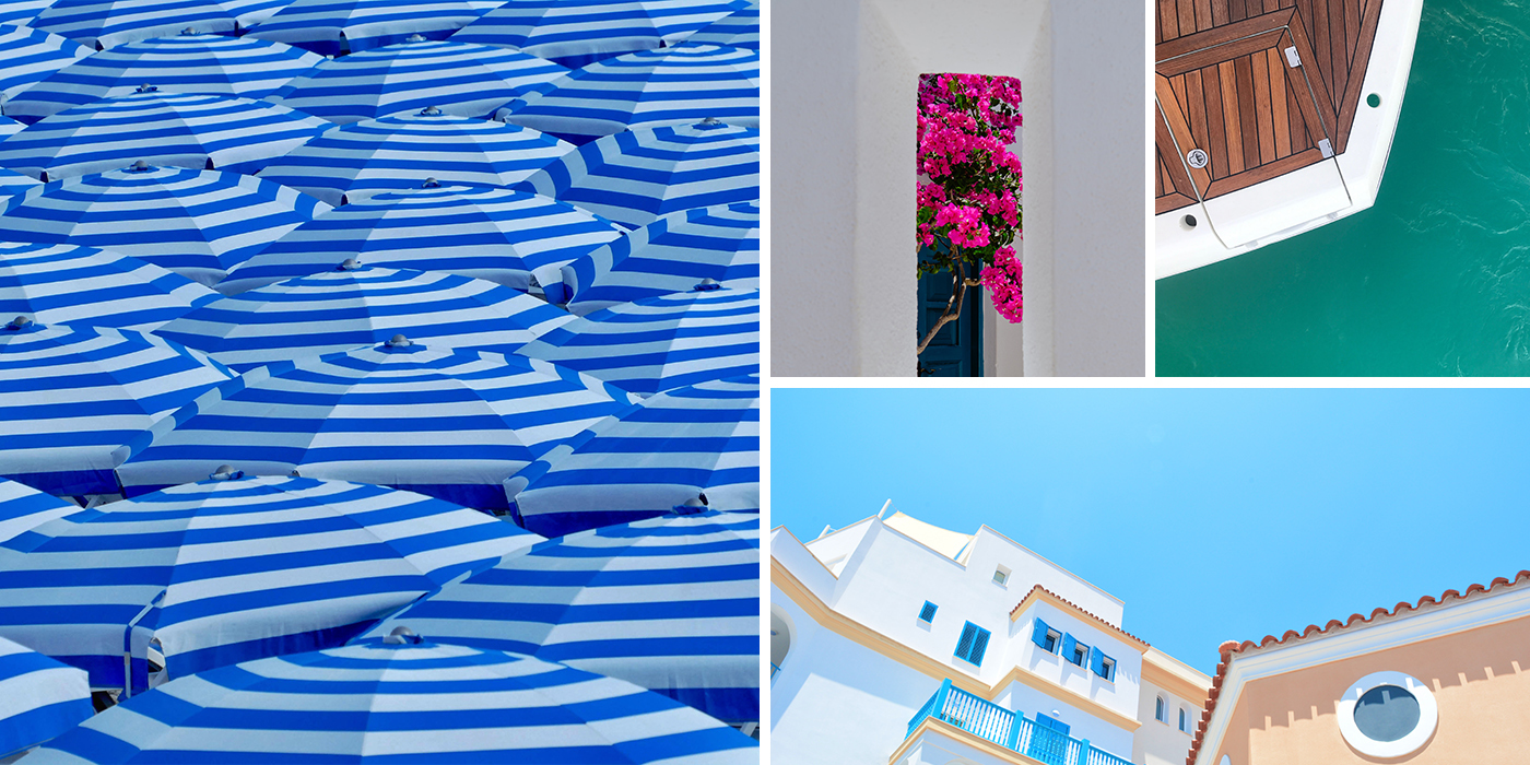 French Riviera Seaside Villa Collage